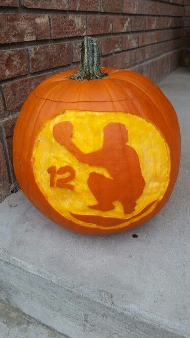 Really cool softball catcher pumpkin sports