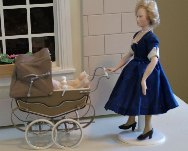 Doll House Artist Made Pram Baby Carriage 1 12 Scale Made in UK and Baby | eBay