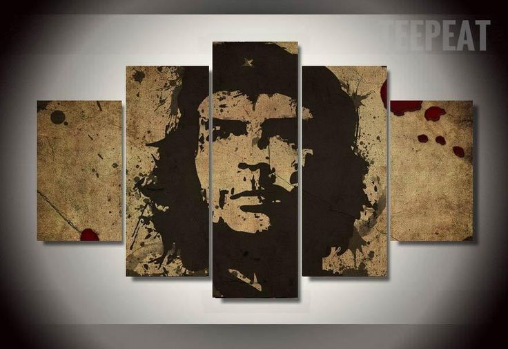 Che Guevara Freedom Painting - 5 Piece Canvas