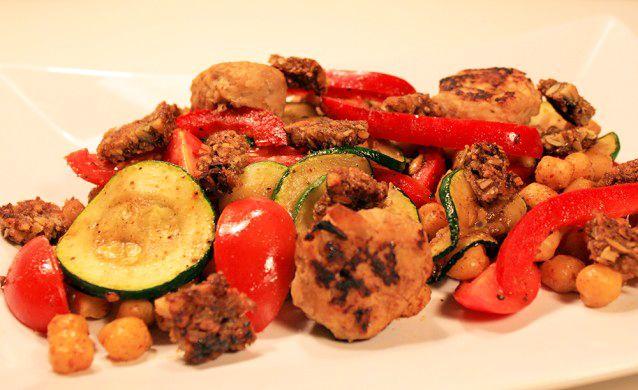 Nem kikærte salat med varme kryderier http://froekenfoodie.dk/nem-kikaerte-salat-med-varme-kryderier/