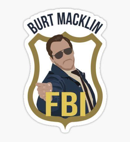 Burt Macklin - Parks and Recreation Sticker