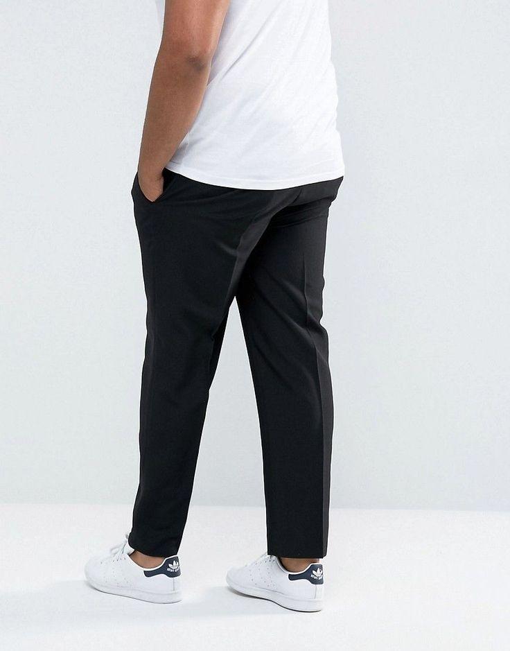 Duke PLUS Regular Fit Pant With Adjustable Waist In Black - Black