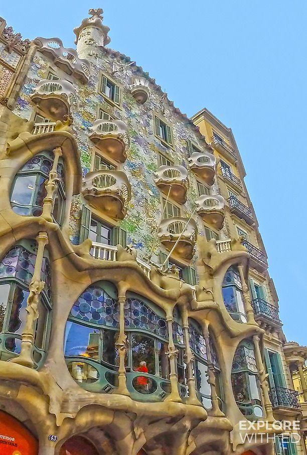 Casa Battló, one of seven wonderful buildings designed by architect Antoni Guadí in Barcelona