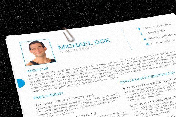 Personal Trainer Resume Personal trainer, Trainers and Cover - resume for personal trainer