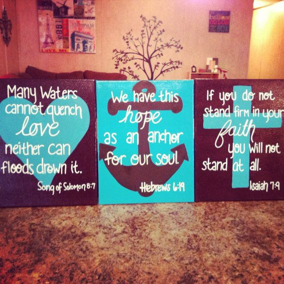 Hey, I found this really awesome Etsy listing at https://www.etsy.com/listing/154650286/3-piece-faith-hope-love-canvas-set-11x14