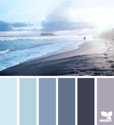 Beautiful cool beach color inspiration for the home.