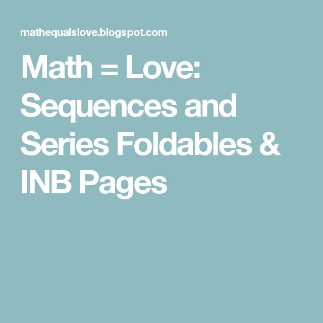 Best 25 Sequences And Series Formulas Ideas On Pinterest