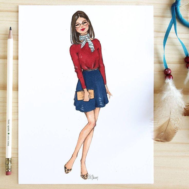 Style of Brush by Gizem Kazancigil #fashionillustration