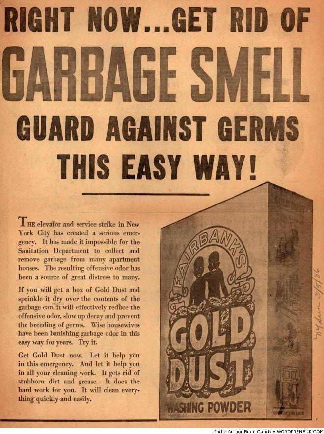 Gold Dust washing powder 1930s vintage ad