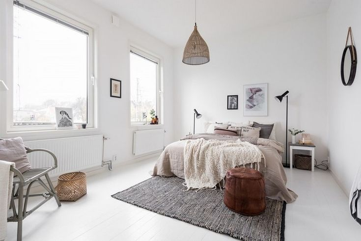 Boho Minimalist Bedroom | Interior Design | www.foundandkept.com