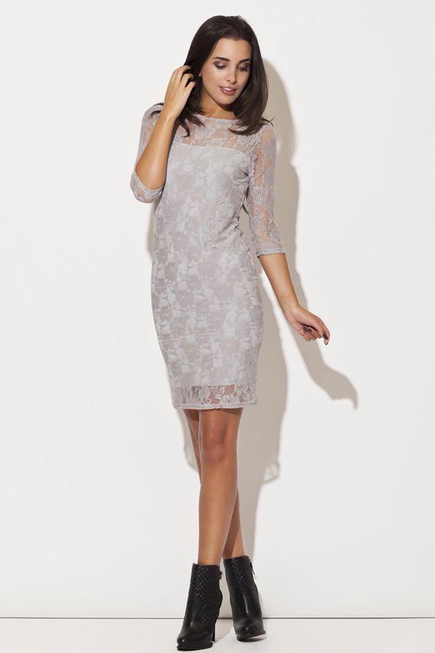 Sukienka K109 szara - KATRUS - Sukienki