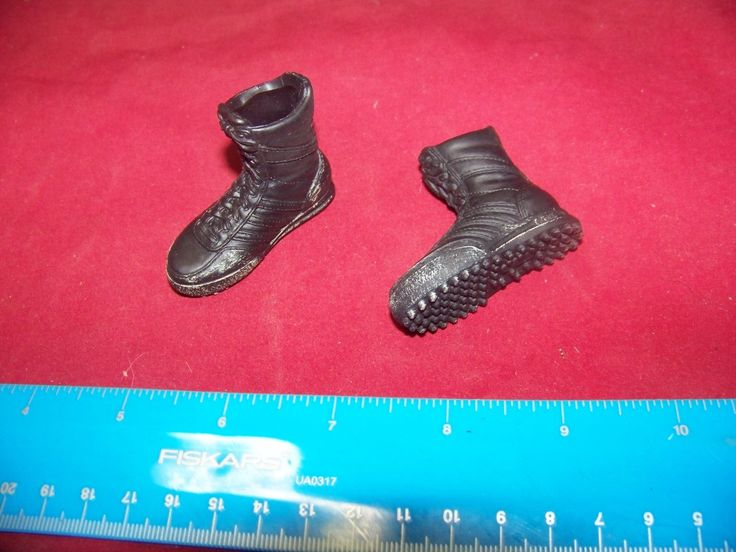 1:6 Scale SWAT Boots Weathered