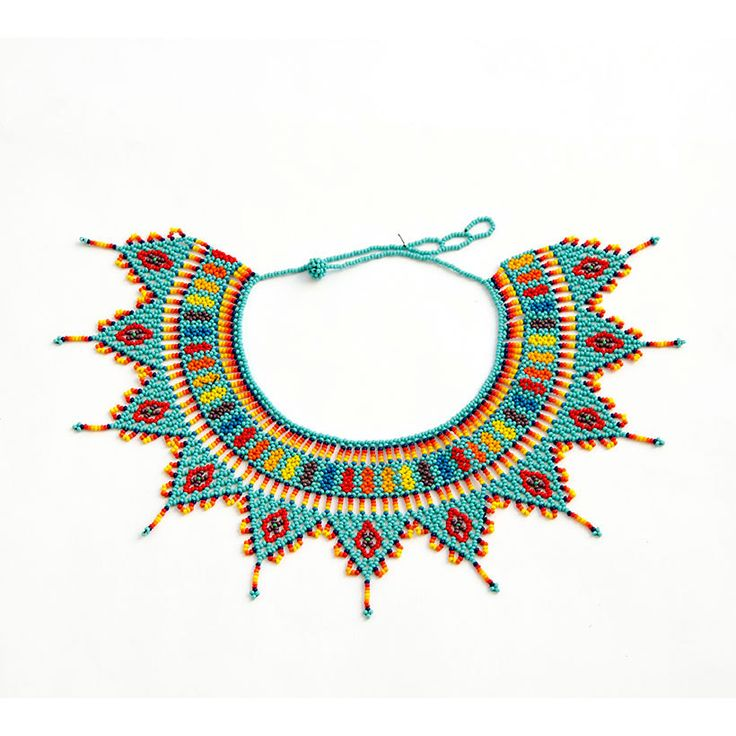 Tribal Collar Bib Necklace Unique Amazon by ColombianMadeShop