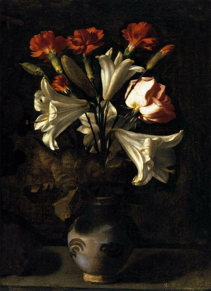 .:. Francisco de Zurbarán, Still life with flowers // Francisco de Zurbarán, Bodegón con flores