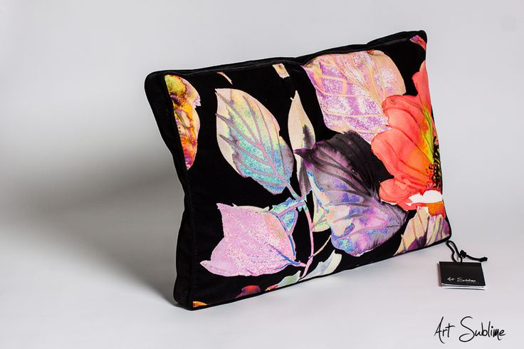 €149,00  EXTRAVAGANCE BLOSSOM BLACK size:65cmx45cm www.art-sublime.com  Art Sublime cushion, pillow www.facebook.com/ArtAndSublime?fref=ts -  #decorative pillow #cushion #decor #design #homedecor #decorative #Decorative pillow #interior design #poduszki ozdobne #art sublime #Decorate Your Home #armchair #chair #poduszki aksamitne #luksusowe poduszki