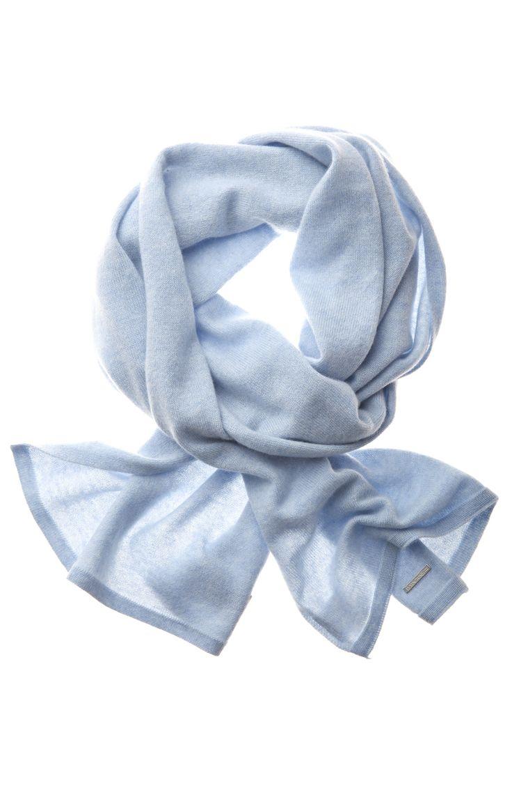 Cashmere Wainscott Scarf Light Blue Melange http://www.lexingtoncompany.com/women/new_arrivals/cozy_cashmere/wainscott-scarf-light_-blue_-melange