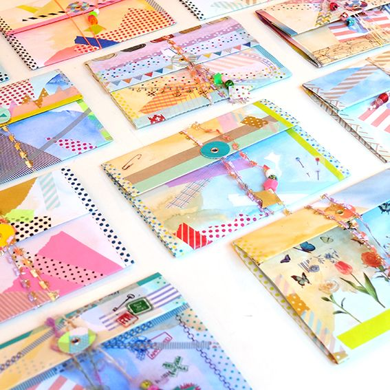 envelope making from Hello Sandwich! blog. She held this workshop in a store in Japan that sells ONLY wash tape.