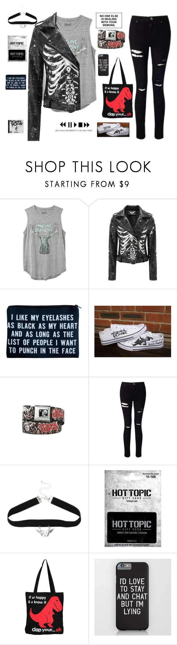 """""""But would anything matter if you're already dead?"""" by falloutromanceandthecellabration ❤ liked on Polyvore featuring DK, Hot Topic, Miss Selfridge and Goodie Two Sleeves"""