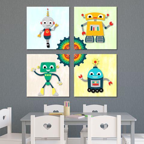 Robots - Boys Wall Print Decor Art