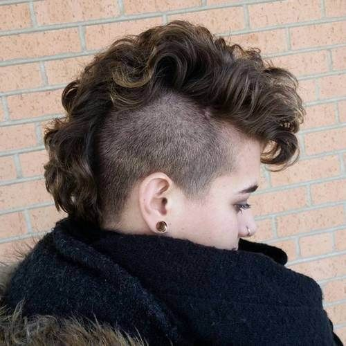 women curly mohawk