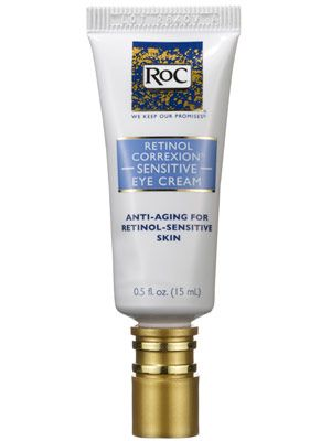 RoC Retinol Correxion Sensitive Eye Cream is an anti-aging eye cream that diminishes fine lines