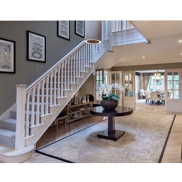 Evesley House at Holland Place.  #Millgate #home #house #property #interiors #decor #design #creativity #luxury #lifestyle #entrance #staircase #hall #beauty