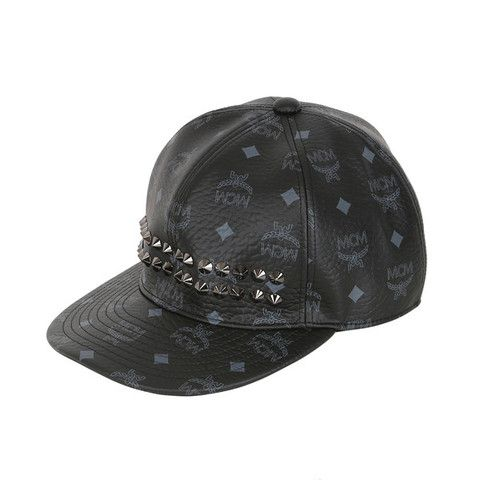 MCM Black Studs Hat #MCM #Hat #BlackStuds