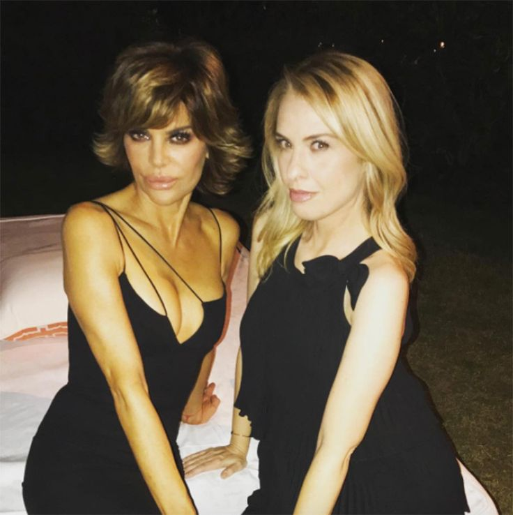 Leslie Grossman and Lisa Rinna at the wedding (Courtesy of Instagram)