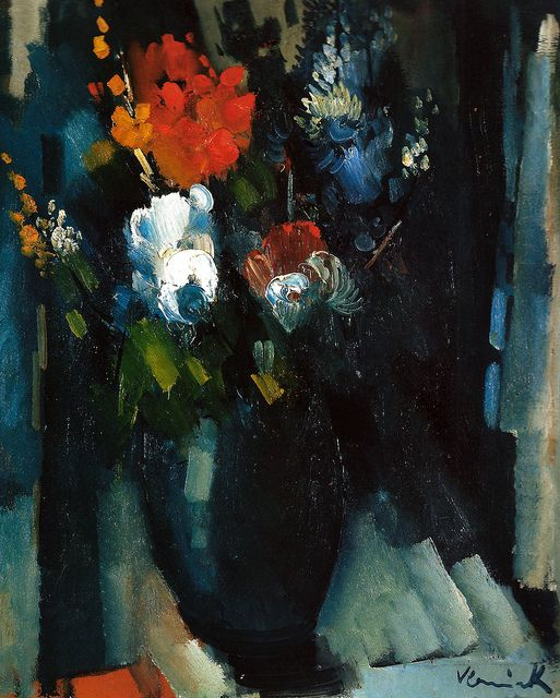 Maurice de Vlaminck - Bunch of Flowers, 1909 at Museo Thyssen-Bornemisza Madrid Spain by mbell1975, via Flickr