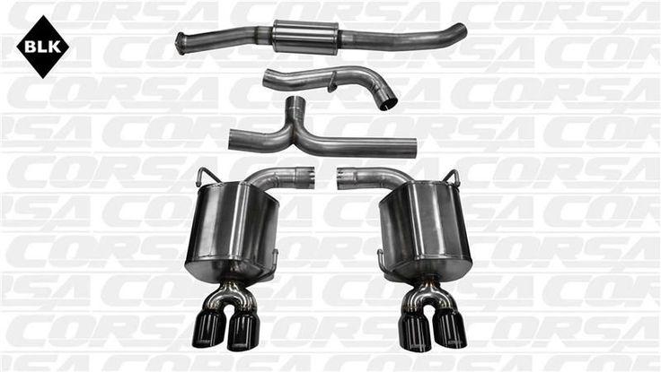 Corsa 2011-2014 Subaru Impreza WRX and STI 2.5L Black Sport CatBack Exhaust System