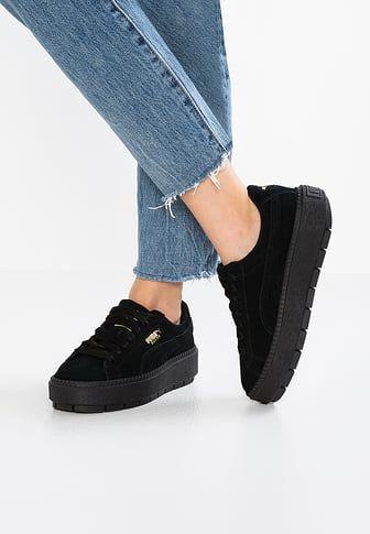 puma vikky platform black