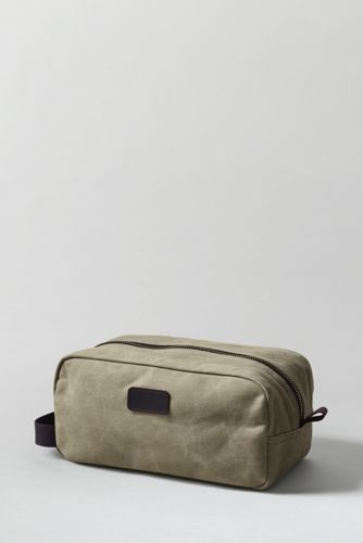 d3b0ee7bf792 Waxed Canvas Travel Kit from Lands  End · Wash BagsWaxed ...