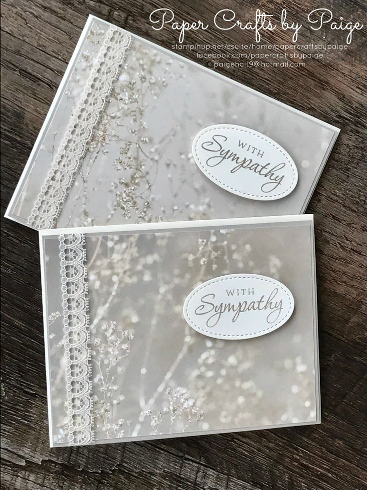 Although creating sympathy cards often comes alongside a sad loss, there is comfort in knowing a card and love note can help those grieving find peace. Stampin' Up Falling in Love DSP, Stitched Shapes Framelits create just that <3