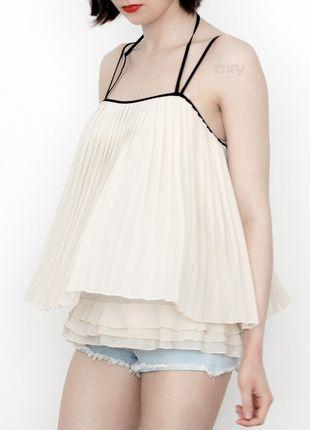 Kup mój przedmiot na #vintedpl http://www.vinted.pl/damska-odziez/koszulki-na-ramiaczkach-koszulki-bez-rekawow/13984351-3-za-2-kremowy-plisowany-top-cienkie-ramiaczka