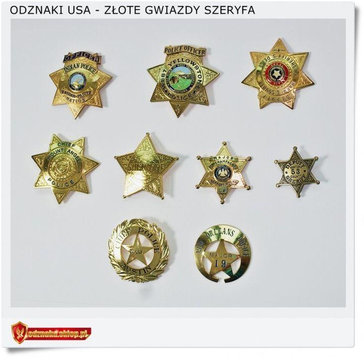 Złota odznaka Szeryfa Wierne repliki kopie odznak SHERIFF