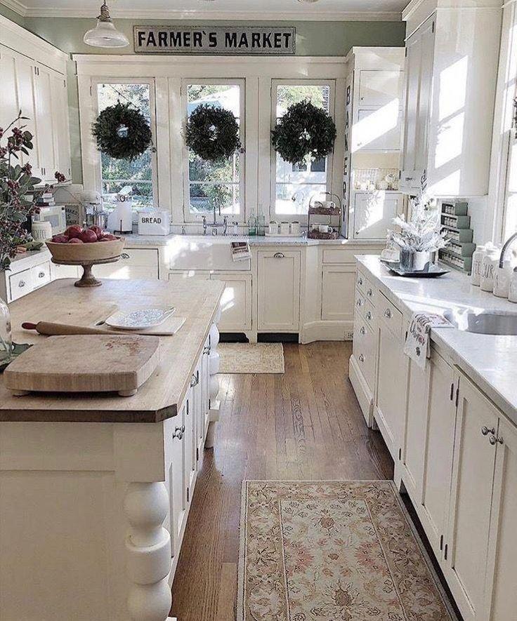 43 Modern Farmhouse Kitchen Ideas To Inspire You 33 Autoblog Rustic Farmhouse Kitchen White Farmhouse Kitchens Farmhouse Kitchen Design