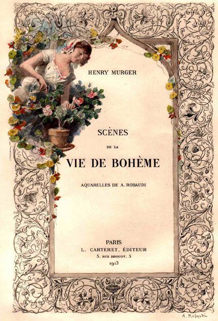 Henry Murger: La Vie De Boheme | Literary Kicks