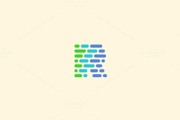 Dynamic, code, blocks, letter R logo - Logos - 1