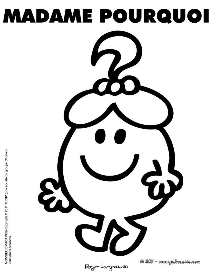 214 best Monsieur...Madame images on Pinterest | Mr men, Inline and Print coloring pages