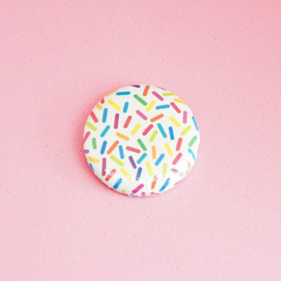This listing is for one totally awesome Sprinkles button or magnet! Decorate everything you own with super cute sprinkles!        • • • • • • • •