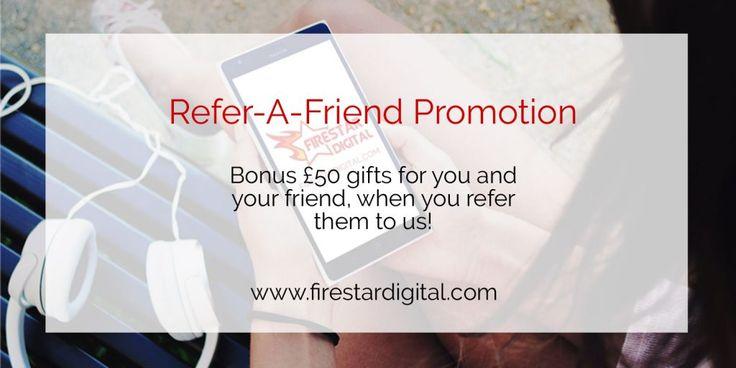 Refer a Friend Web design promotion