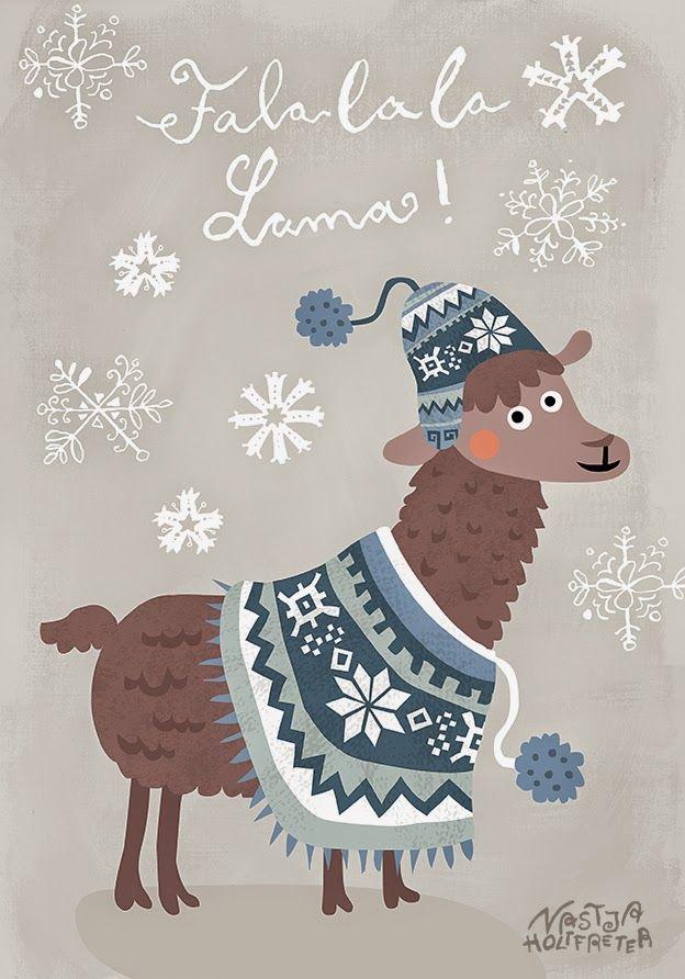 Falalala Llama • Nastja Holtfreter Illustration, Surface and Pattern Design: 9. Dezember