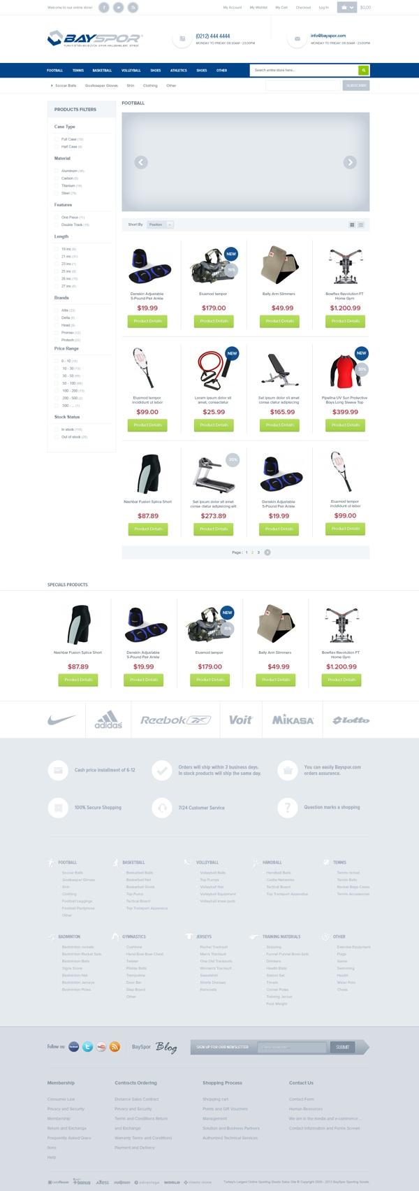Sports Equipment E Commerce Theme by Emrah Demirağ, via Behance