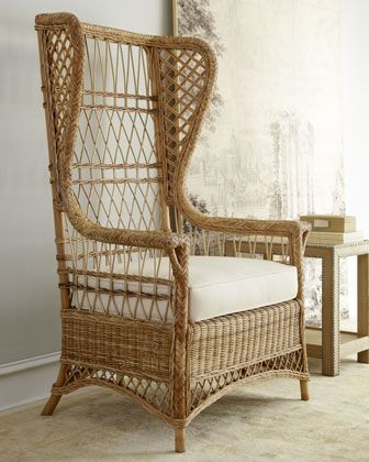 """Barclay Butera Lifestyle """"Emma"""" Wicker Chair at Horchow."""