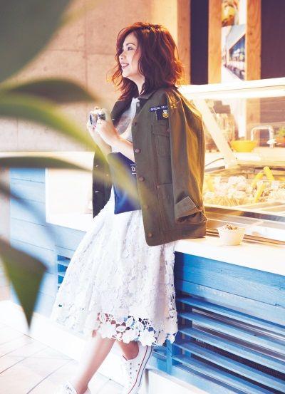 化したGUを「きれいめおしゃれ」に着る方法  #anecan #fashion #川村桃子 #スタイリスト #ミリタリージャケット #クラッチ