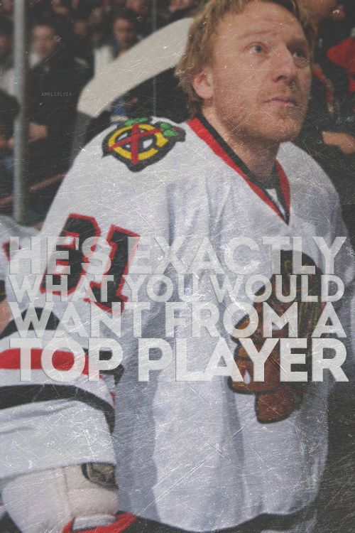 Marian Hossa is my favorite player on the Chicago Blackhawks. He is SUCH an incredible man & humble, sweet, and did I mention gorgeous?