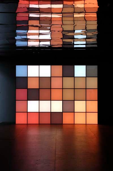 Angela Bulloch. Light art installation.