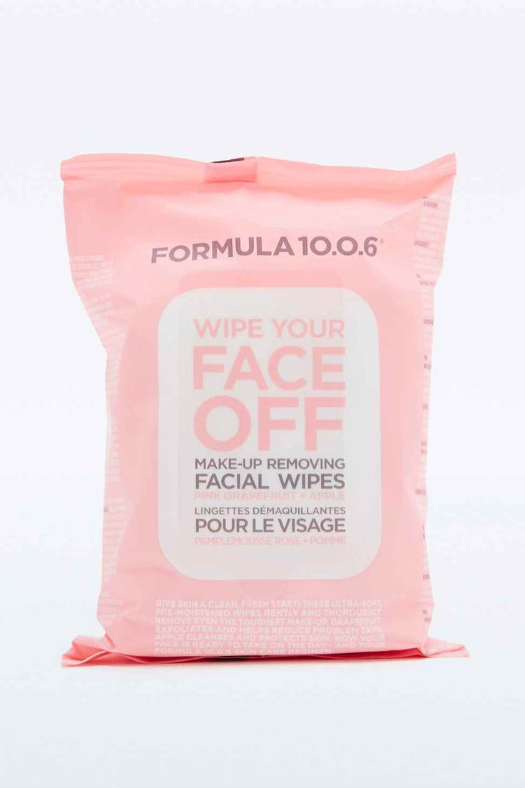 Formula 10.0.6 Face Wipes  Long day at work and can't be bothered to wipe off that make-up? Use this face wipes, equally deep cleansing, packed with grapefruit to exfoliate and apple to cleanse and protect; a quick and easy tool to use in your skincare routine.