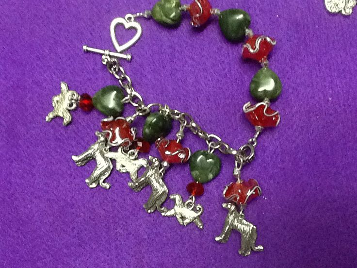 Afghan hounds, love them in red & green