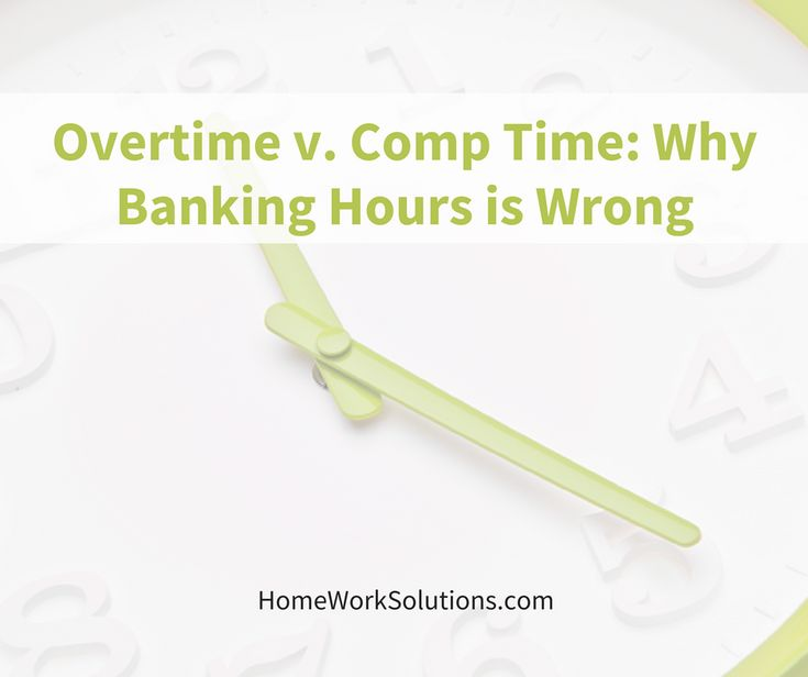 Discussion on household employee overtime rules and why it is improper to have a nanny or other household worker bank hours for comp time.